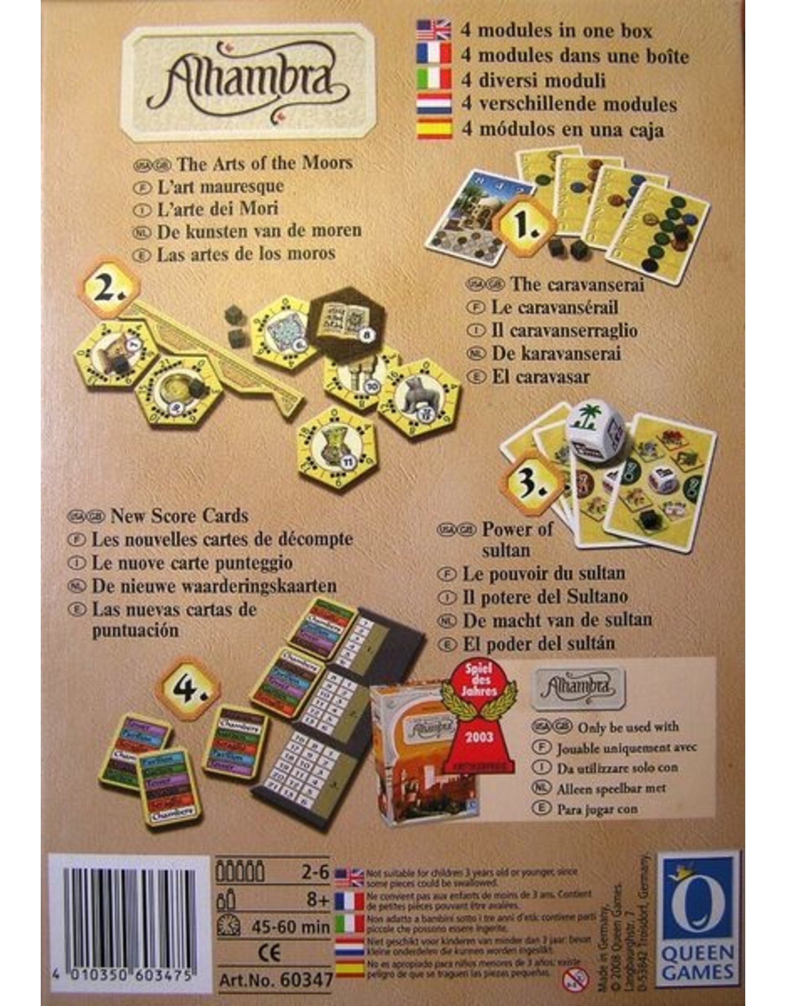Rio Grande Games Alhambra: Power of the Sultan Expansion