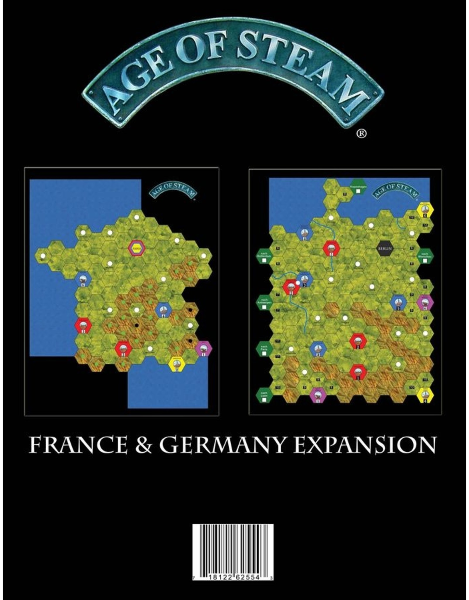 Eagle-Gryphon Games Age of Steam: France/Germany Expansion Maps
