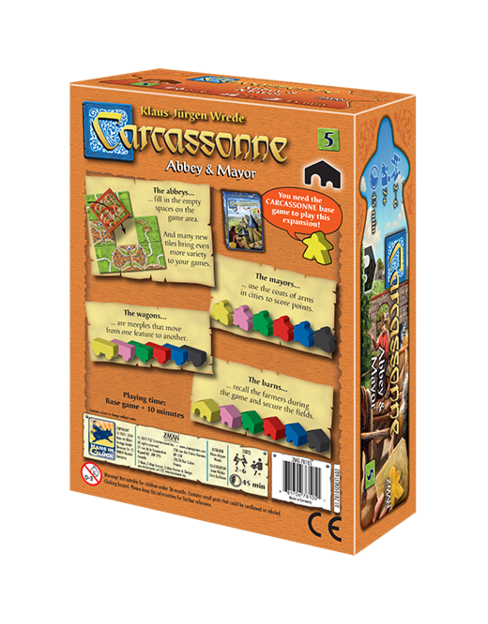 Z-Man Games Carcassonne: Abbey & Mayor Expansion