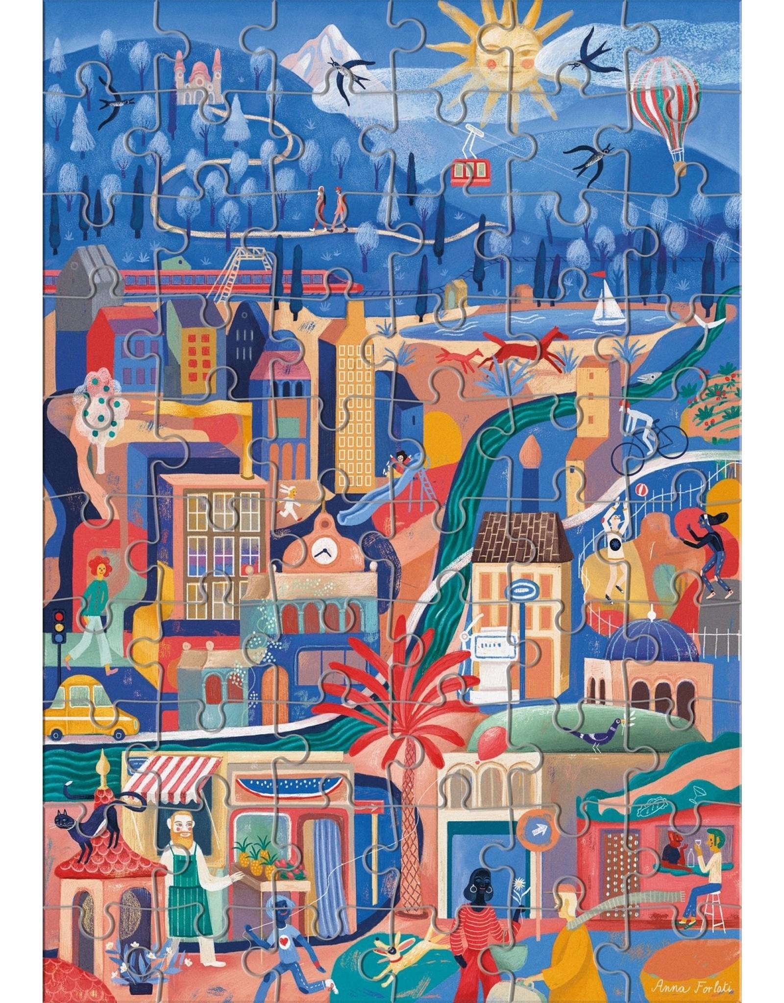 """Clementoni """"Sweetest City"""" 60 Piece Find It Puzzle"""