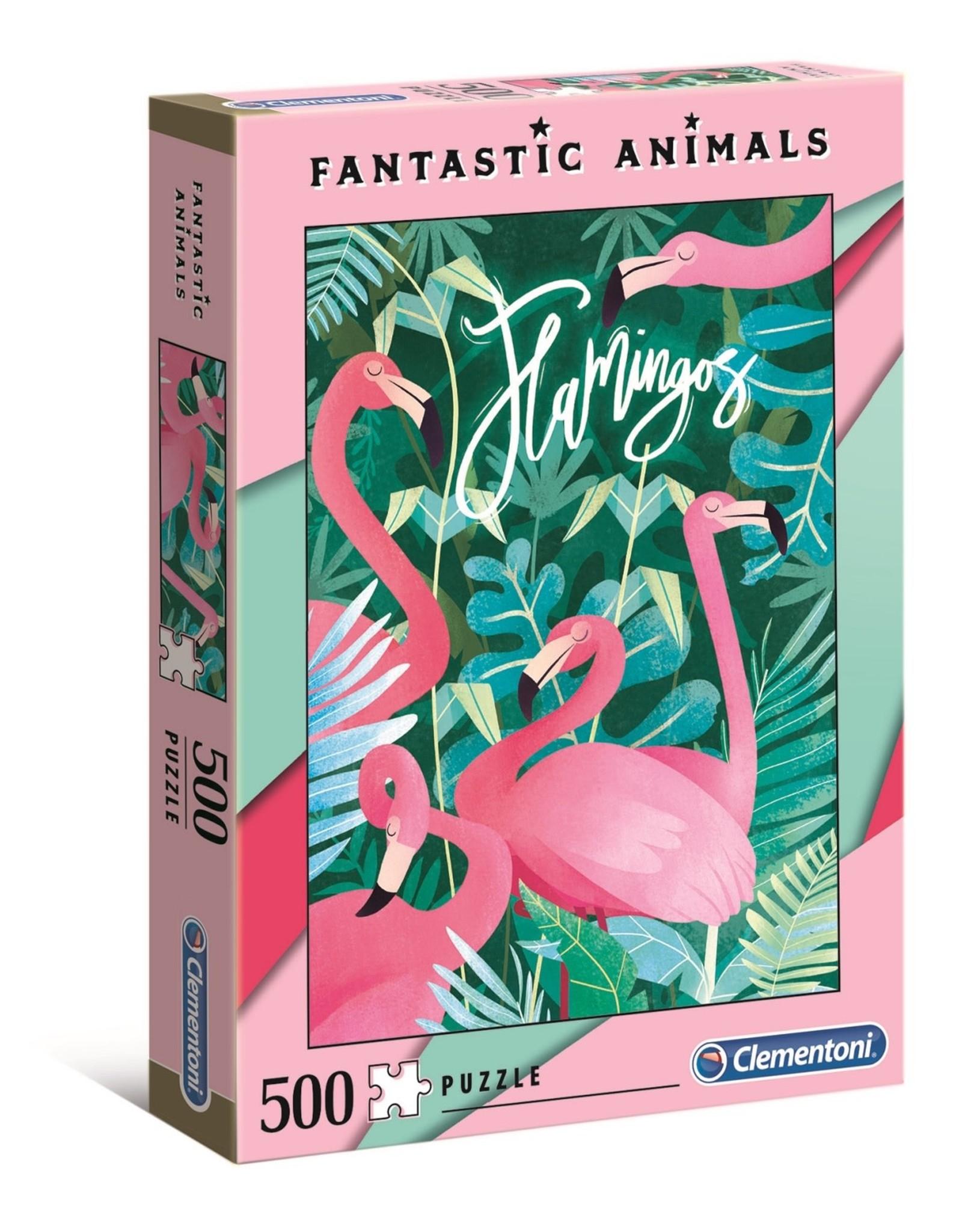 """Clementoni """"Fantastic Animals: Flamingo"""" 500 Piece Puzzle"""