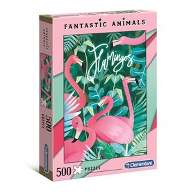 "Clementoni ""Fantastic Animals: Flamingo"" 500 Piece Puzzle"