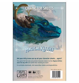 Atlas Games Magical Kitties Save the Day! Kitty Character Sheets