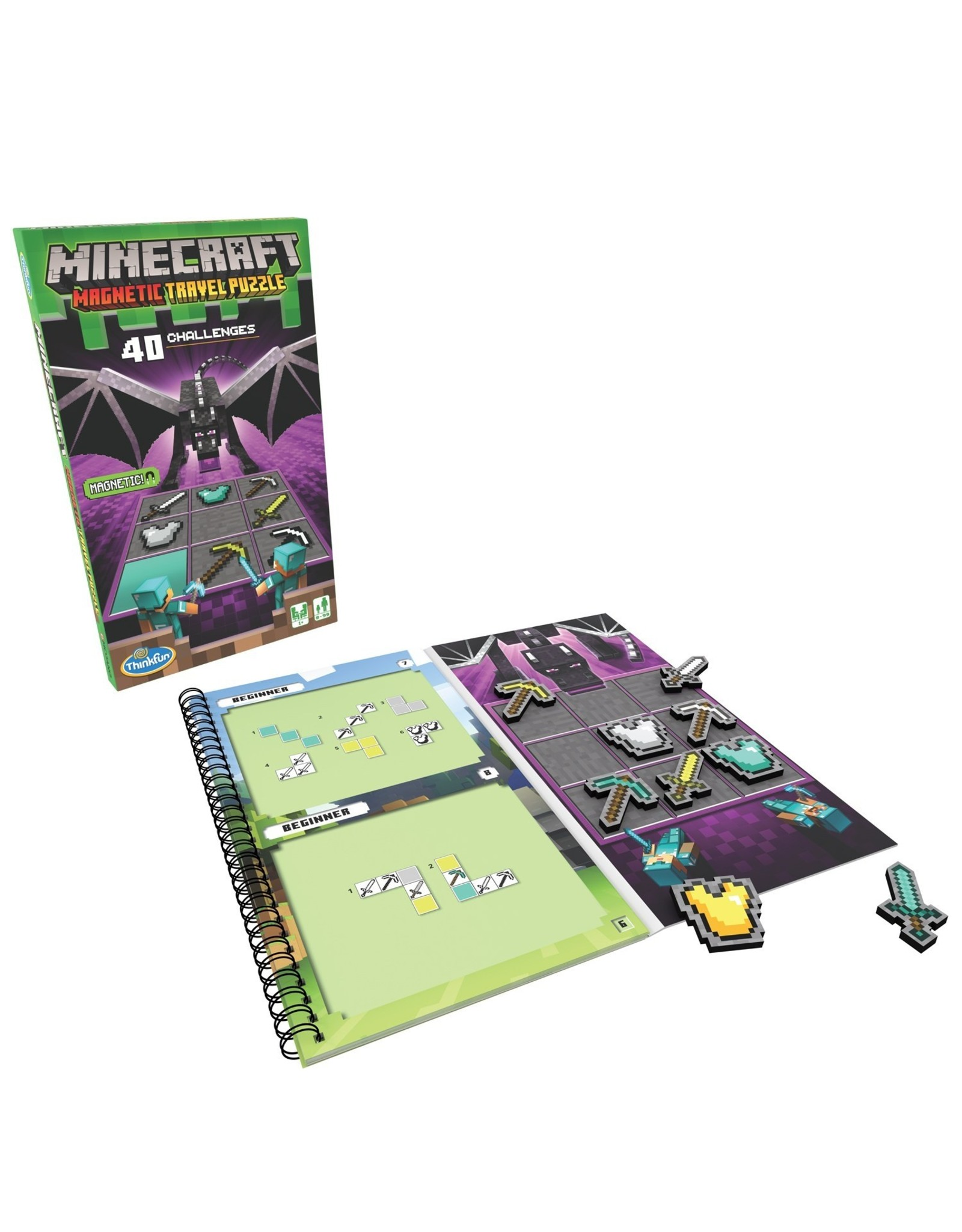 Thinkfun Inc. Minecraft Magnetic Travel Puzzle