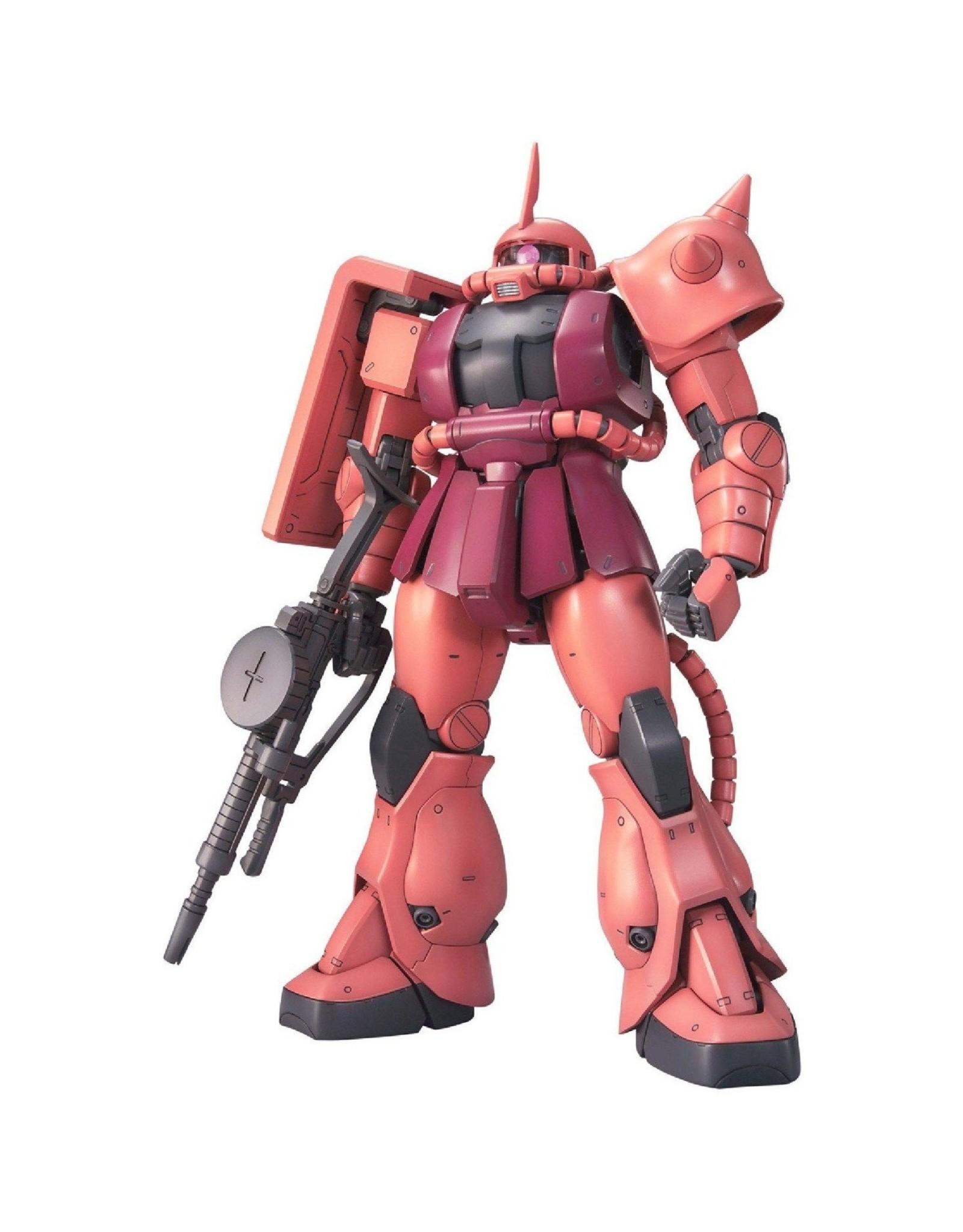 "Bandai ""Char's Zaku II'' Gundam Model Kit; MG 1/100"