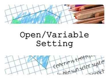 Open/Variable Setting RPGs