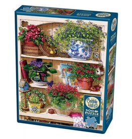 "Cobble Hill ""Flower Cupboard"" 500 Piece Puzzle"