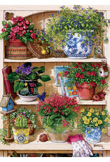 "Cobble Hill ""Flower Cupboard"" 500 Piece Puzzle"