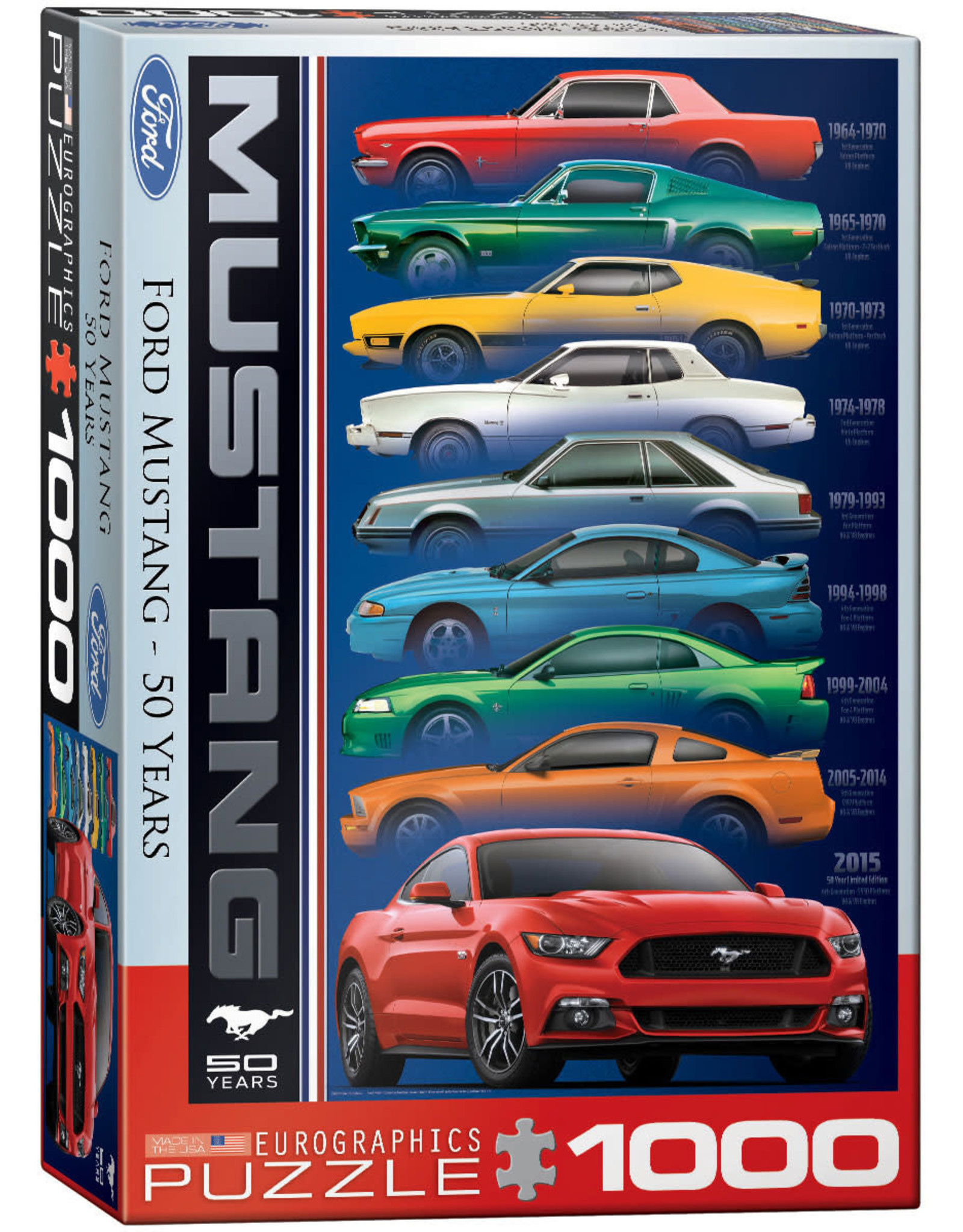 """Eurographics """"Ford Mustang 50 Years"""" 1000 Piece Puzzle"""