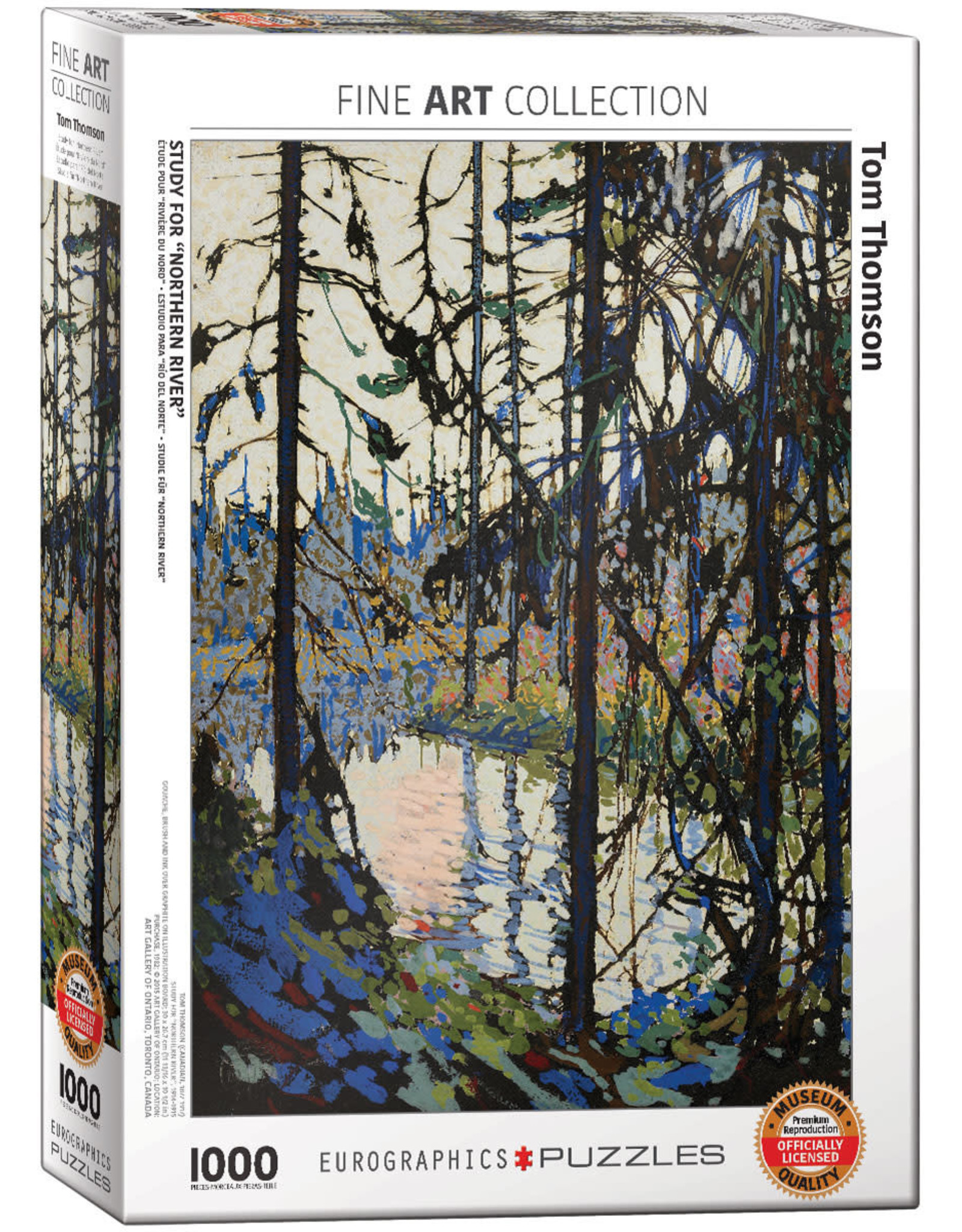"Eurographics ""Study for Northern River"" 1000 Piece Puzzle"