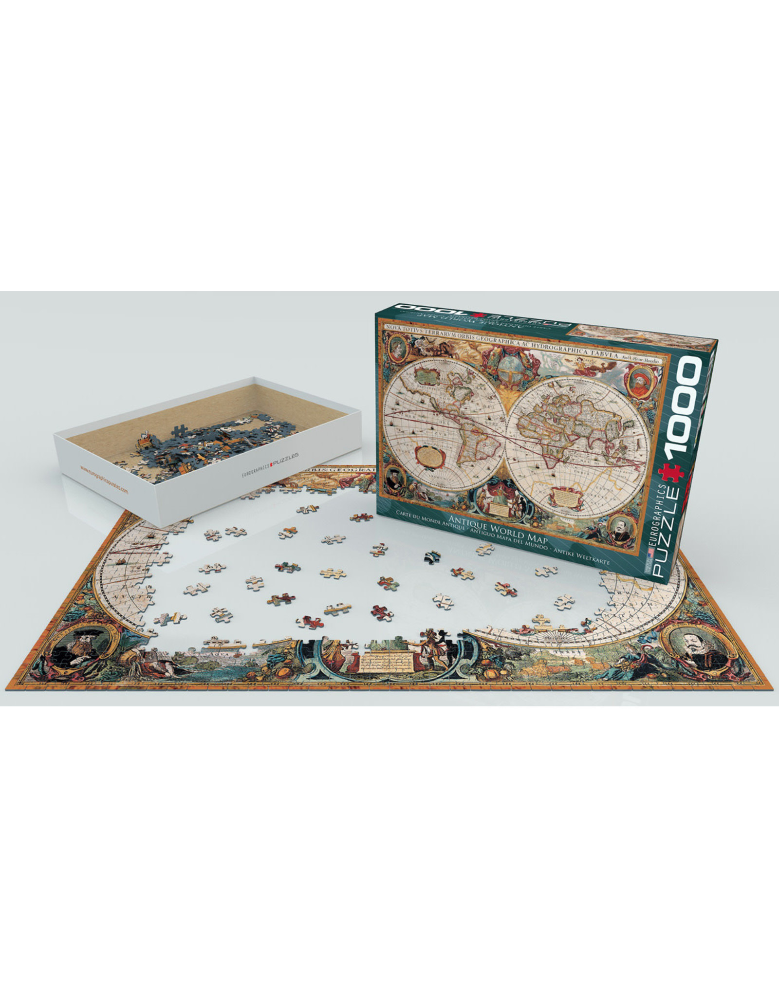 """Eurographics """"Orbis Geographica World Map"""" 1000 Piece Puzzle"""