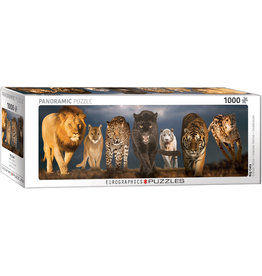 "Eurographics ""Big Cats"" 1000 Piece Panoramic Puzzle"