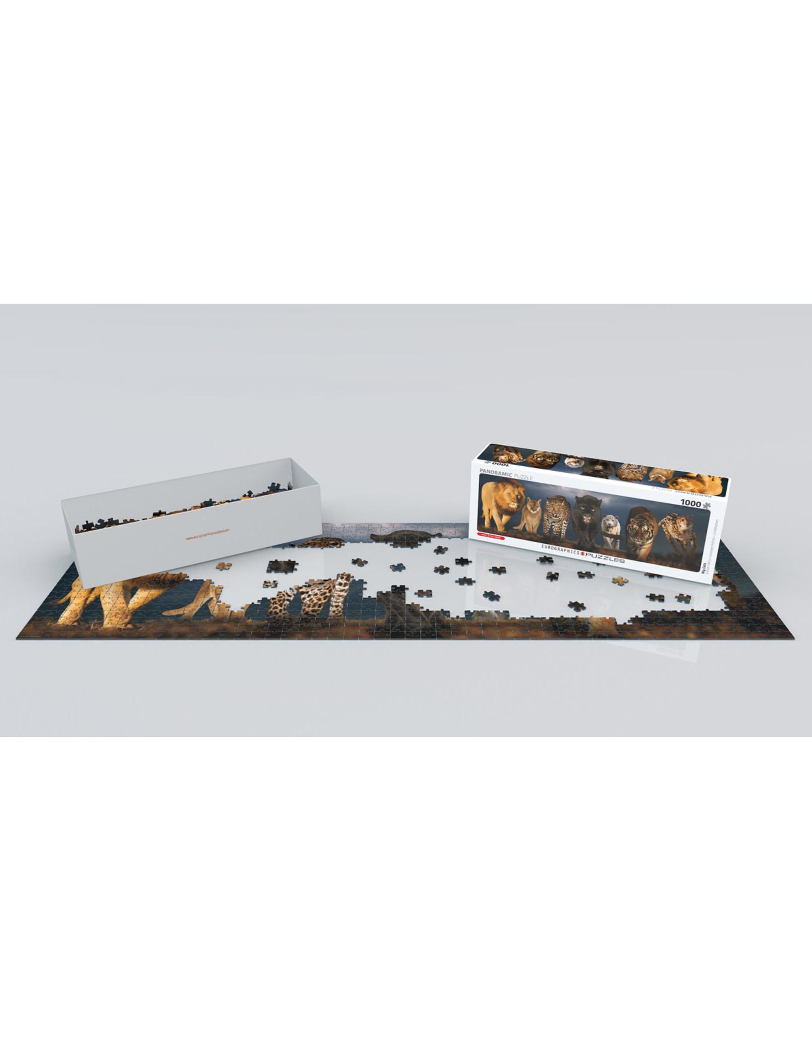 "Eurographics ""Big Cats"" 1000 Piece Panoramic Puzzle"