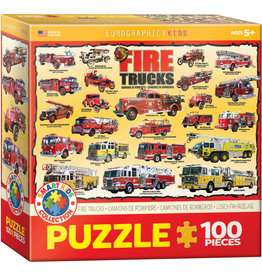 "Eurographics ""Fire Trucks"" 100 Piece Puzzle"