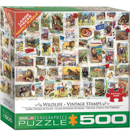 "Eurographics ""Wildlife Vintage Stamps""  500 Piece Puzzle"