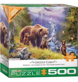 """Eurographics """"Grizzly Cubs"""" 500 Piece Puzzle"""
