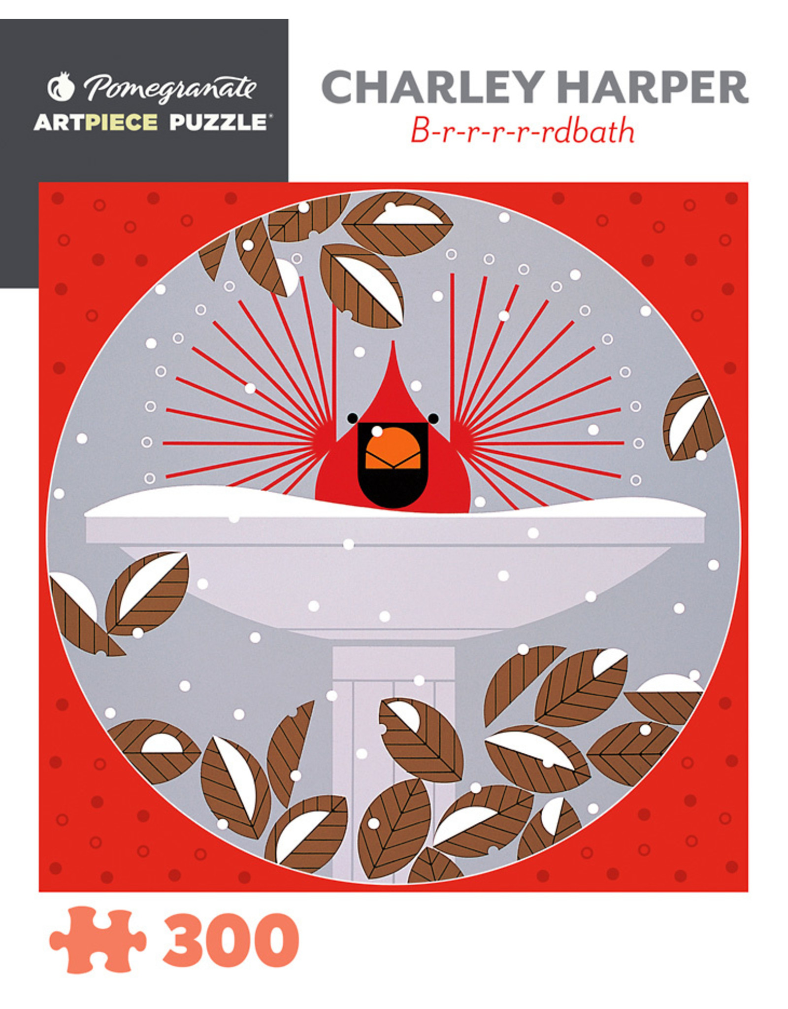 "Pomegranate ""Brrrrrdbath"" 300 Piece Puzzle"