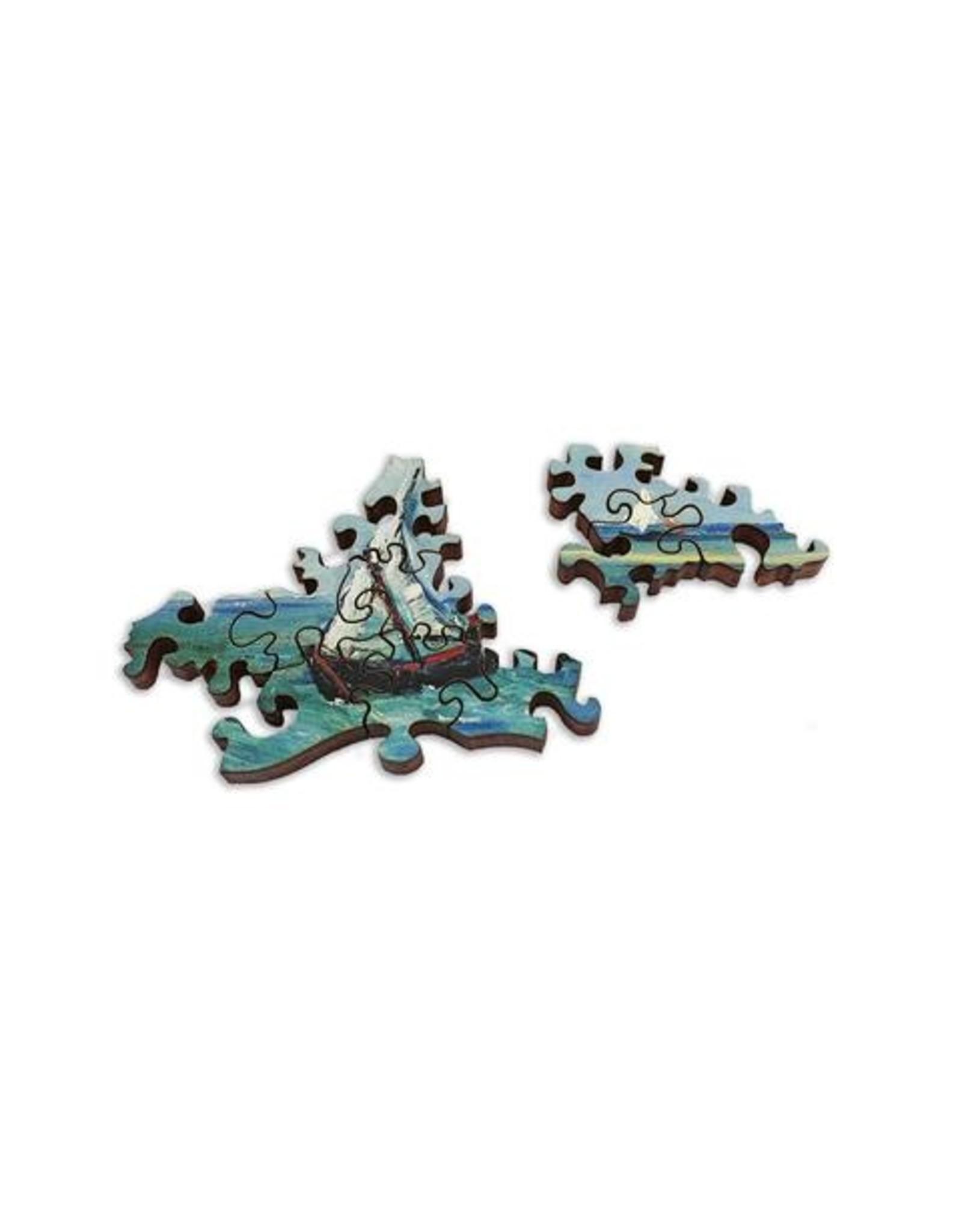 """Artifact Puzzles """"Sea at Saintes-Maries"""" Wooden Jigsaw Puzzle"""