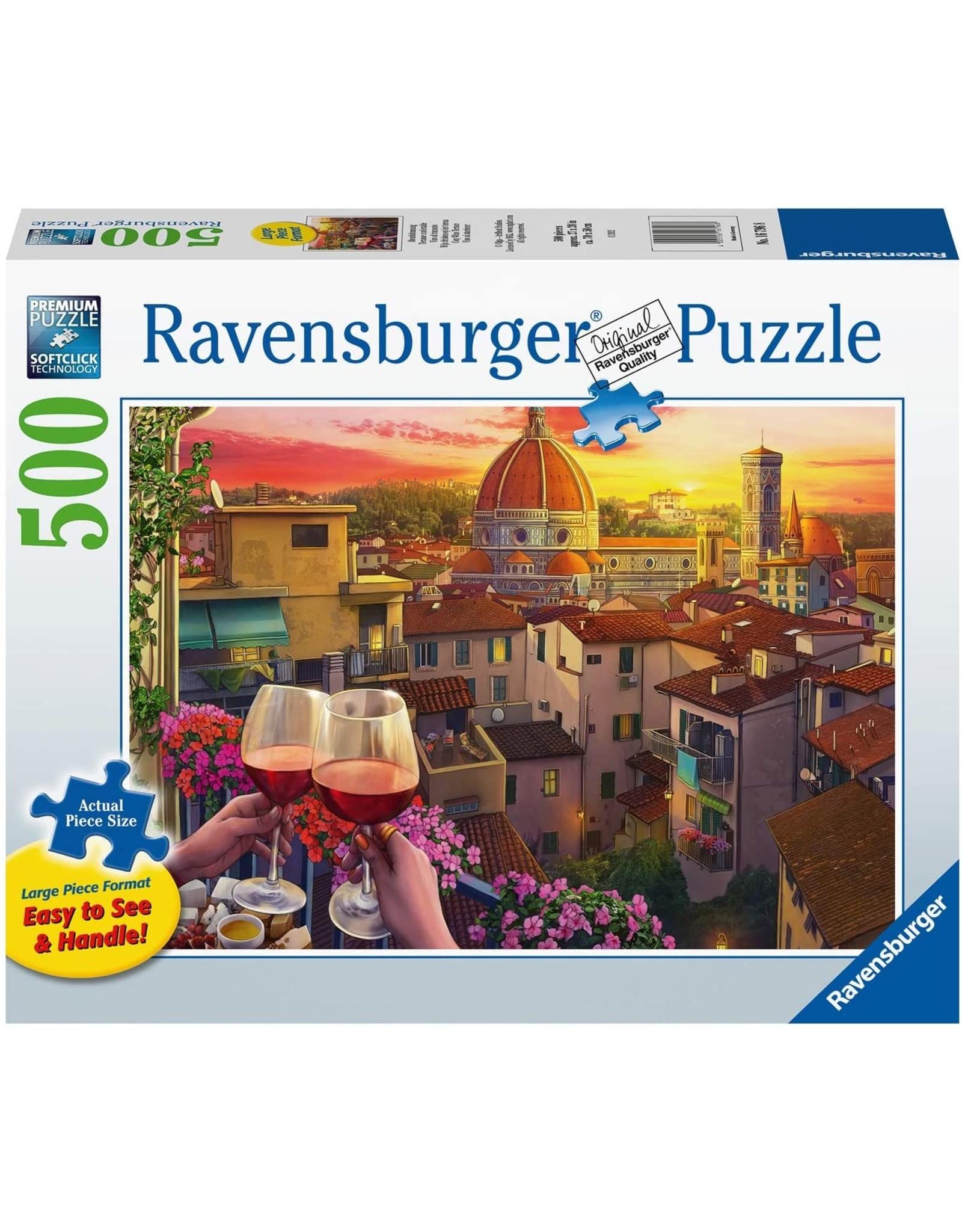 """Ravensburger """"Cozy Wine Terrace"""" 500 Piece Puzzle"""