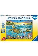 "Ravensburger ""Swim with Sea Turtles"" 100 Piece Puzzle"