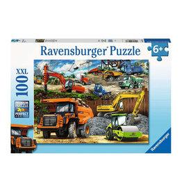 """Ravensburger """"Construction Vehicles"""" 100 Piece Puzzle"""