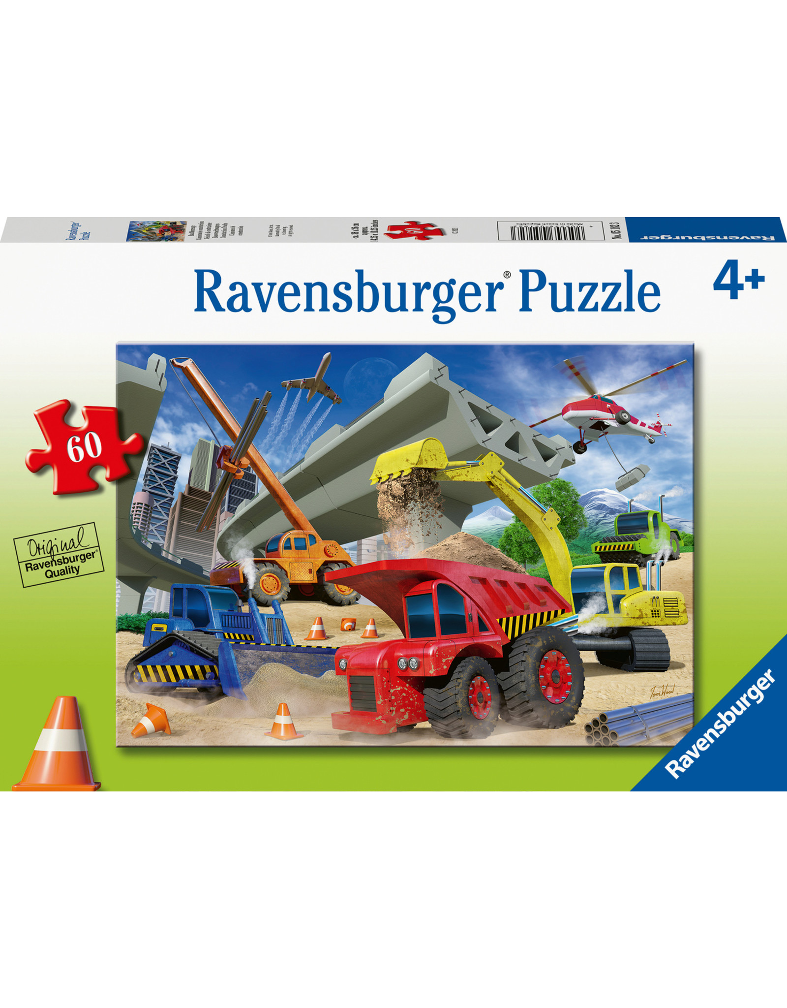 "Ravensburger ""Construction Trucks"" 60 Piece Puzzle"