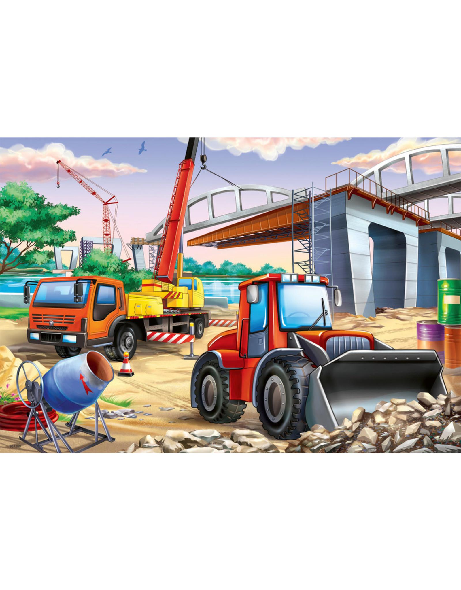 """Ravensburger """"Construction & Cars"""" 2 X 24 Piece Puzzles"""