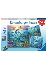 """Ravensburger """"The World of Ocean Animals"""" 3 X 49 Piece Puzzles"""