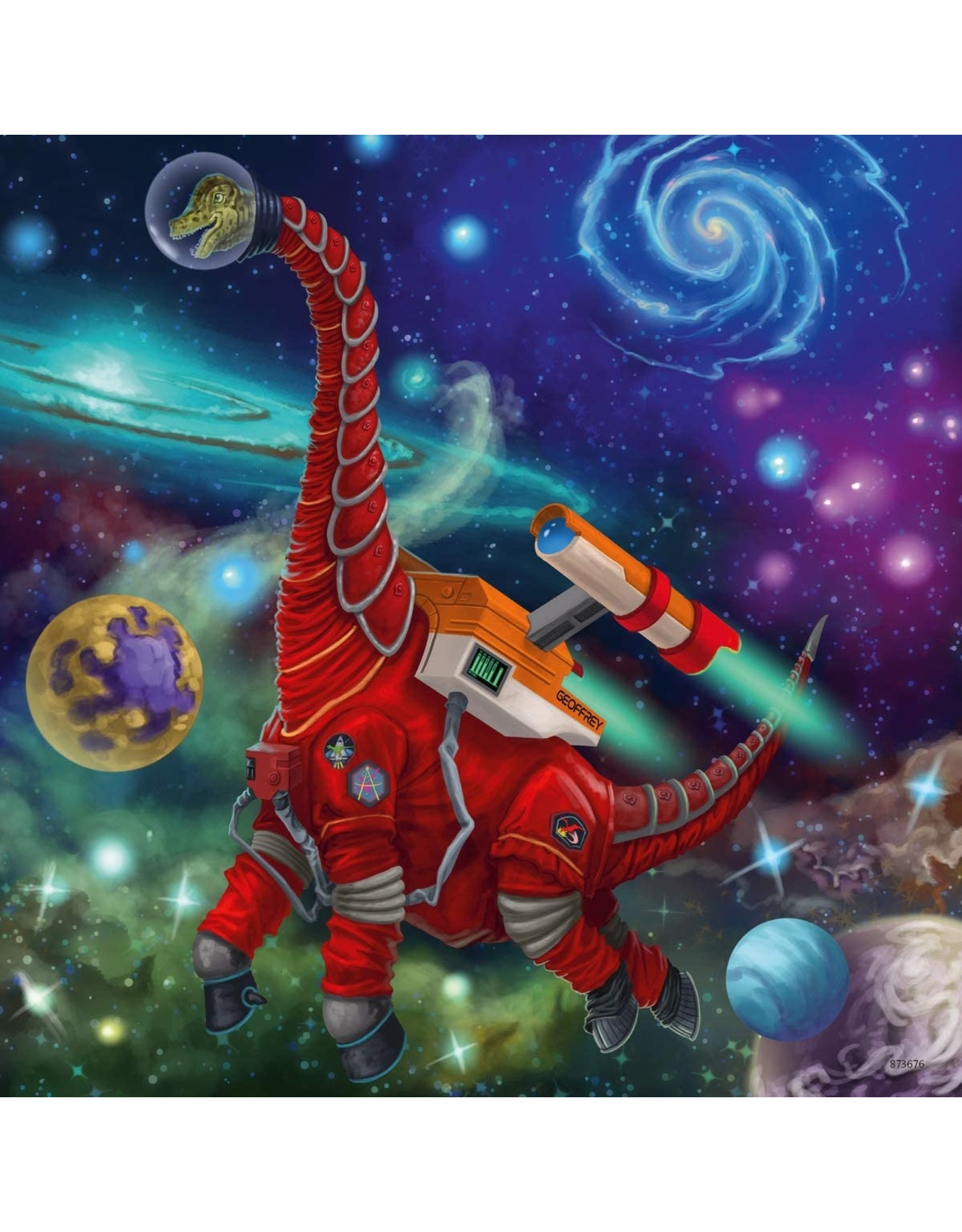 "Ravensburger ""Dinosaurs in Space"" 3 X 49 Piece Puzzles"