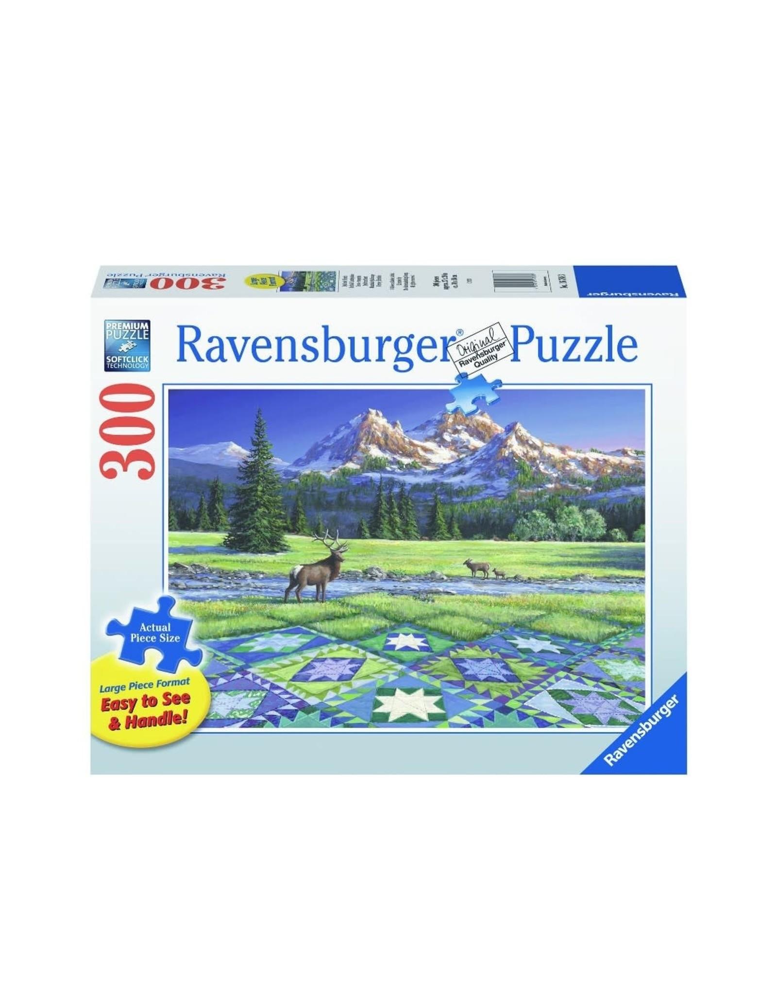 """Ravensburger """"Mountain Quiltscape"""" 300 Piece Puzzle"""