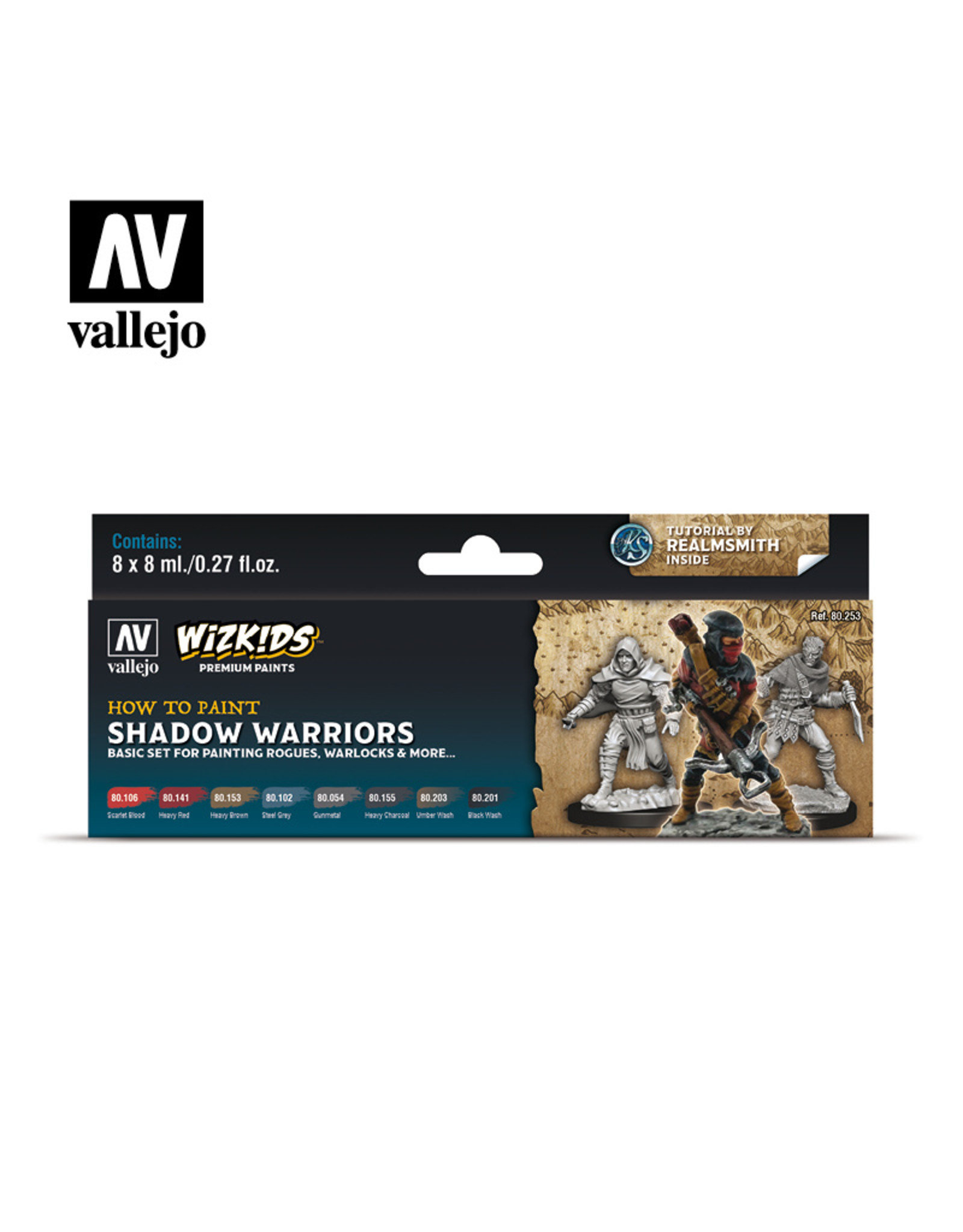 Vallejo Themed Paint Sets with Tutorials and Miniature