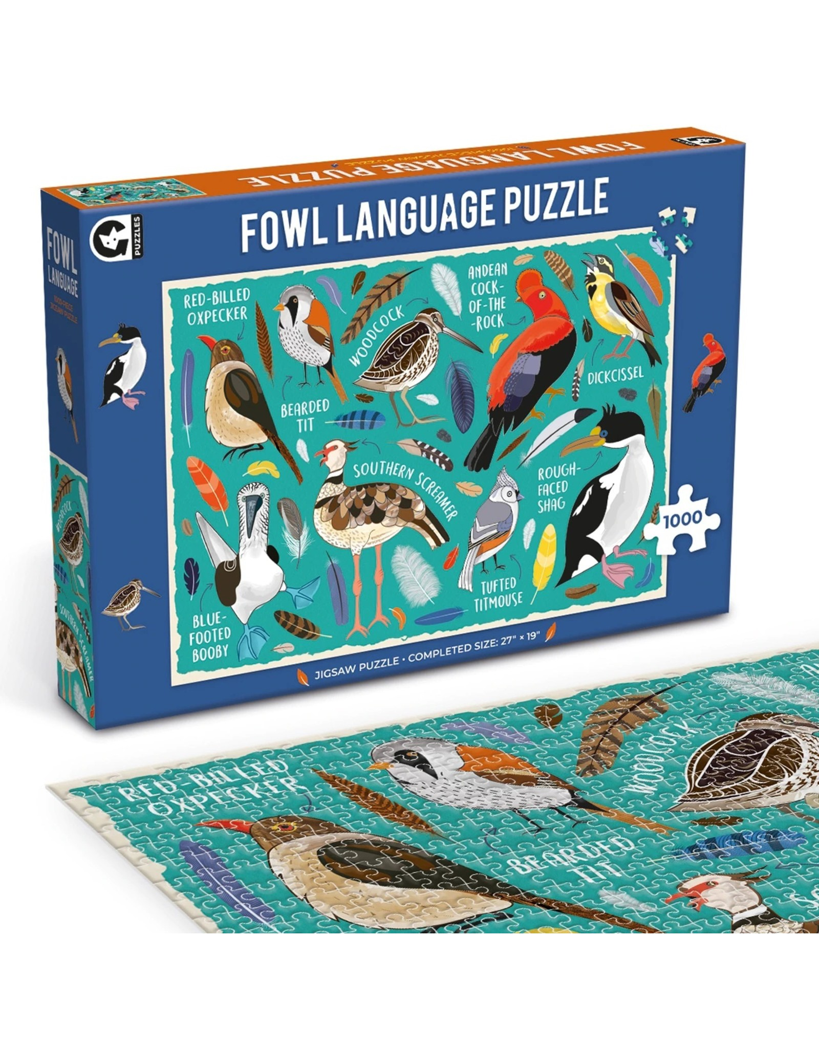 "Ginger Fox Games ""Fowl Language"" 1000 Piece Puzzle"