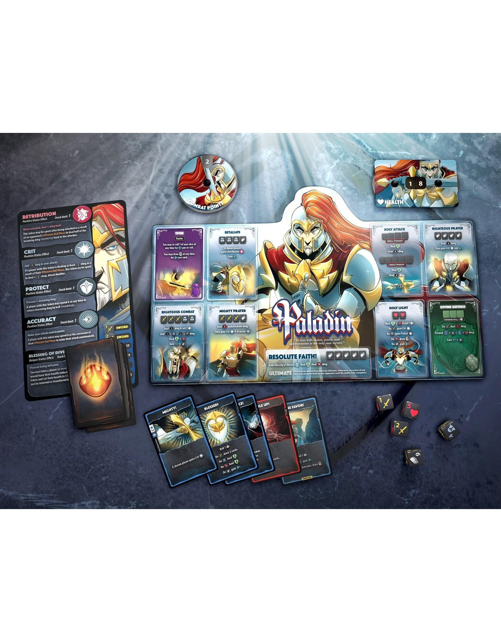 Roxley Games Dice Throne Season 1: Monk vs. Paladin