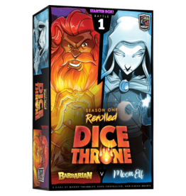 Roxley Games Dice Throne Season 1: Barbarian vs. Moon Elf