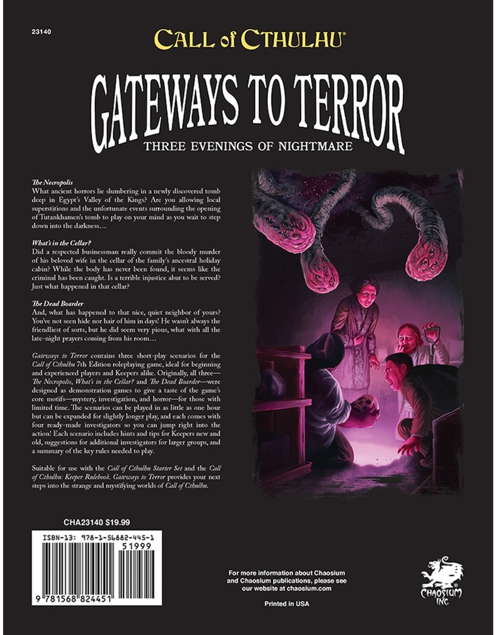 Chaosium Call of Cthulhu 7E: Gateways to Terror