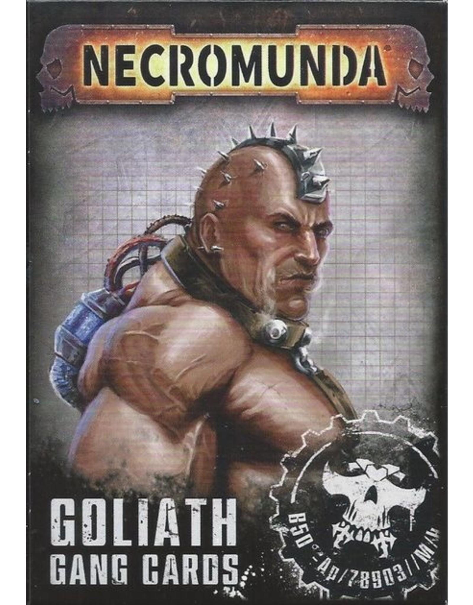 Games Workshop Necromunda: Cards Goliath Gang