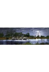 """Heye """"Herd of Elephants"""" 2000 Piece Panoramic Puzzle"""