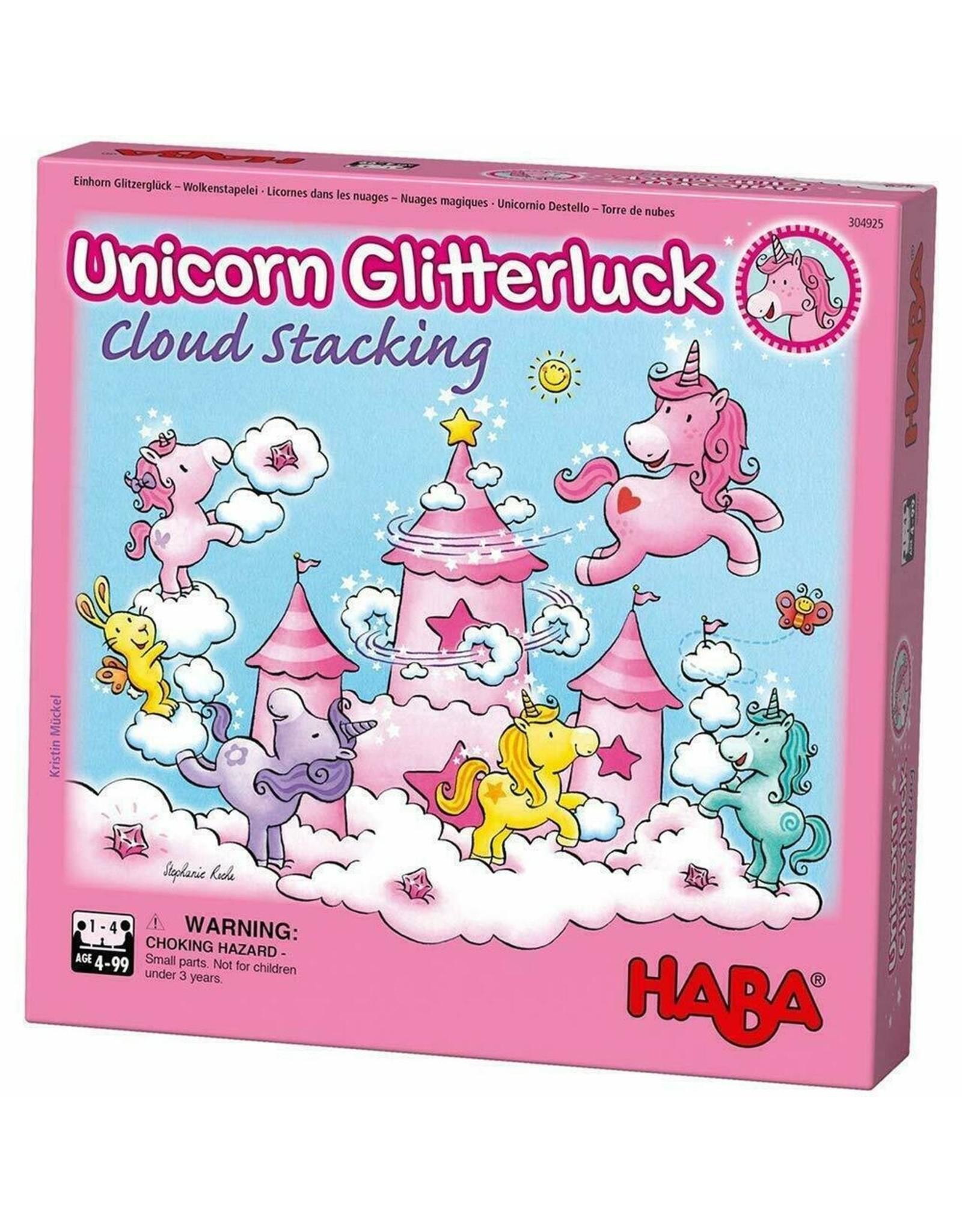 Haba USA Unicorn Glitterluck: Cloud Stacking Game