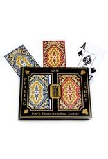 Kem KEM Arrow Plastic Playing Cards Narrow Jumbo Text Paisley