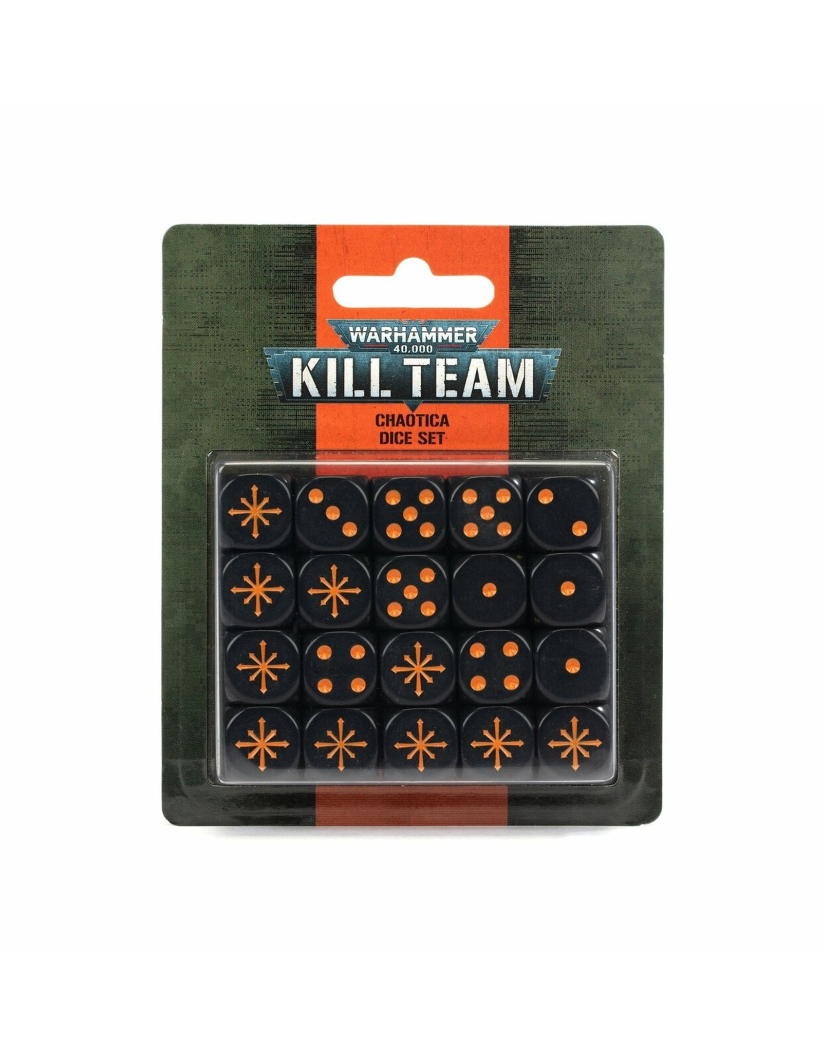 Games Workshop Kill Team 2E:  Chaotica Dice Set