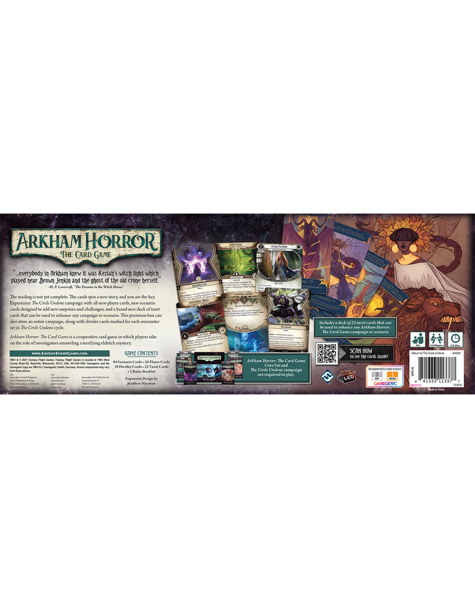 Fantasy Flight Games Arkham Horror LCG: Return to the Circle Undone