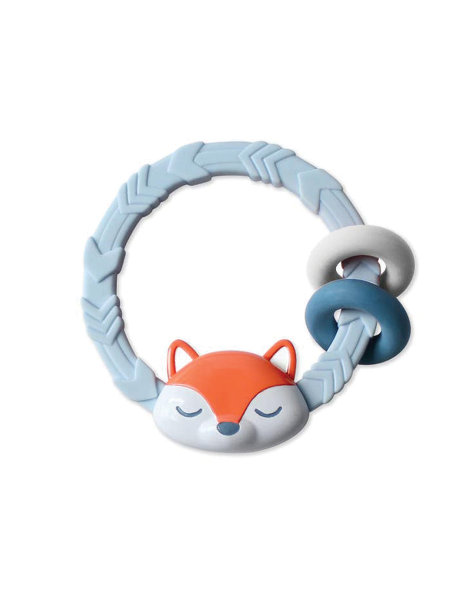 Itzy Ritzy Fox Silicone Teething Rattle