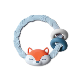 Itzy Ritzy Fox Silicone Teething Rattle