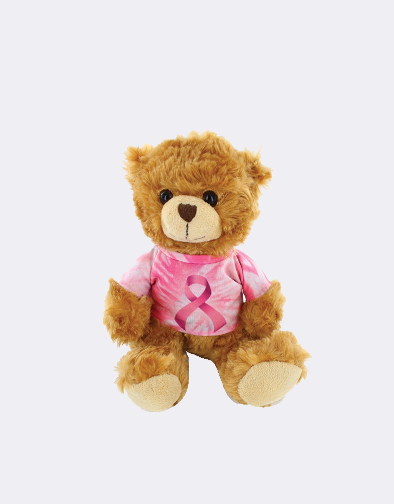 Cancer Awareness Tie Dye Bear