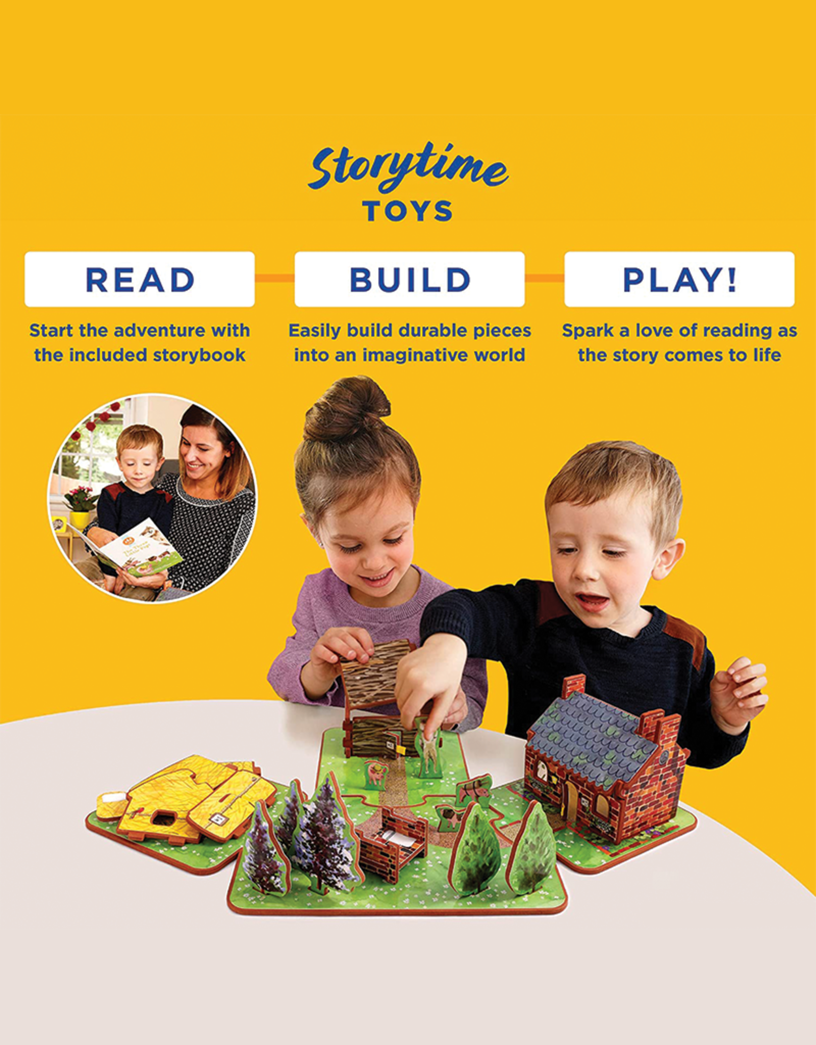 Storytime Toys The Thee Pigs Play Set