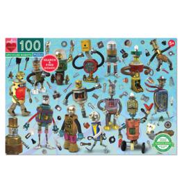 eeBoo Upcycled Robots 100-Piece Puzzle