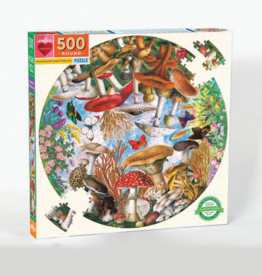 eeBoo Mushrooms and Butterflies 500-Piece Puzzle
