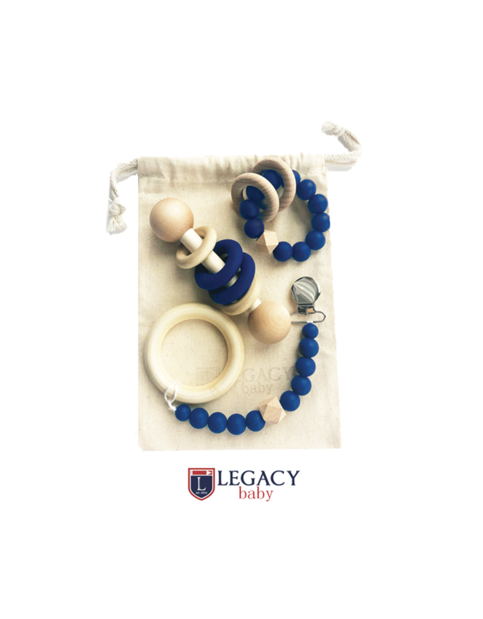 Legacy Learning Academy New Baby Gift Set, Navy