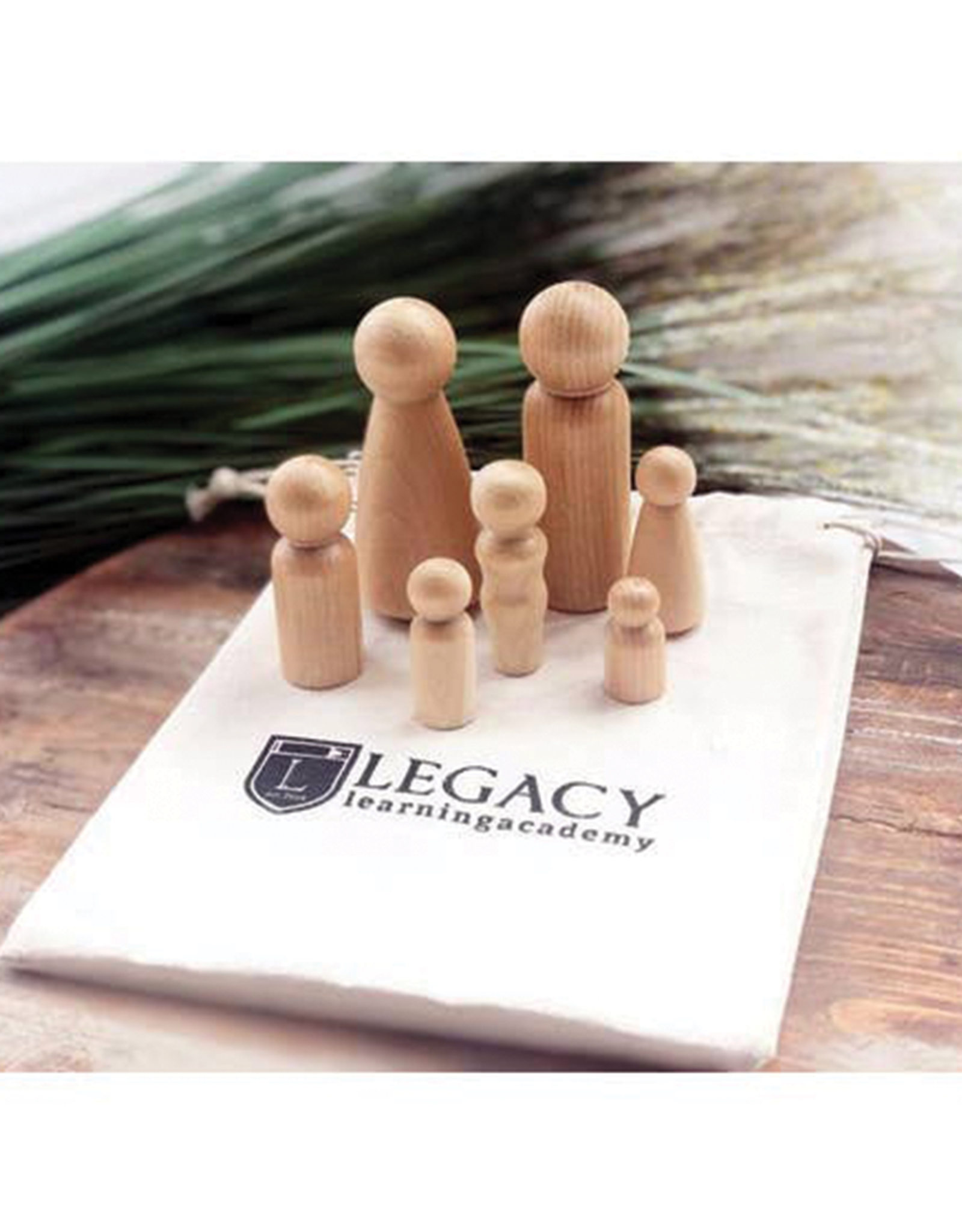 Legacy Learning Academy Natural Wood Peg Family