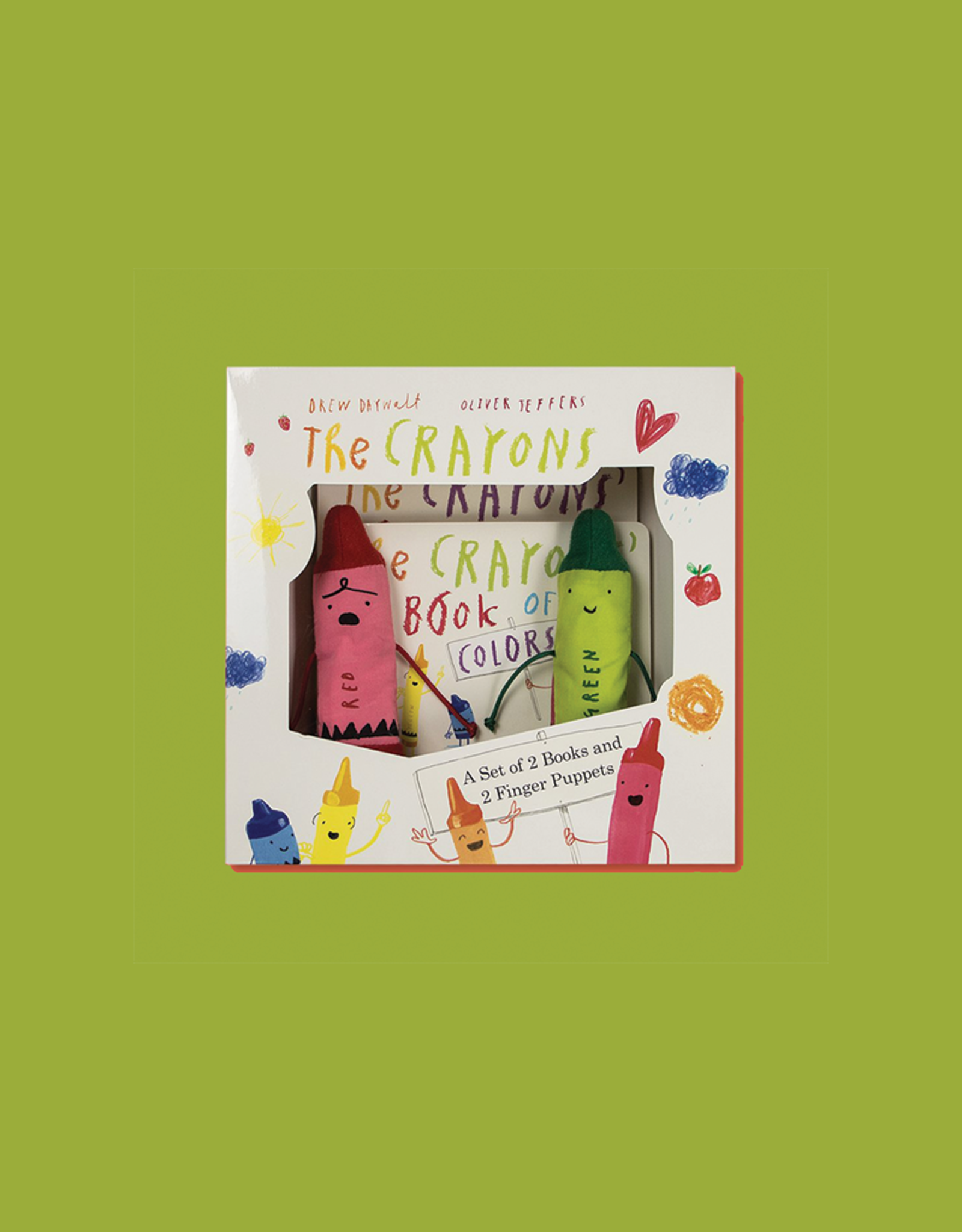 The Crayons:  Set of Books and Finger Puppets